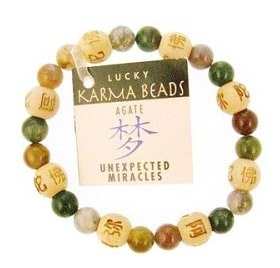 Genuine Agate and Wooden feng shui bracelet
