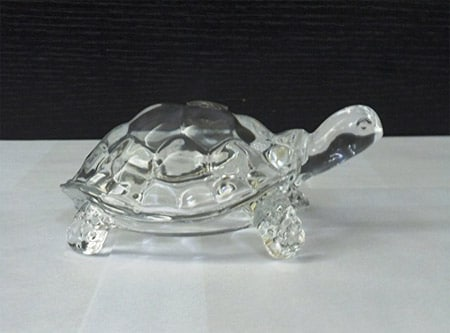 feng shui glass turtle