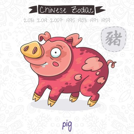 Pig horoscope feng shui forecast - Lucky color for new year 2019 ...